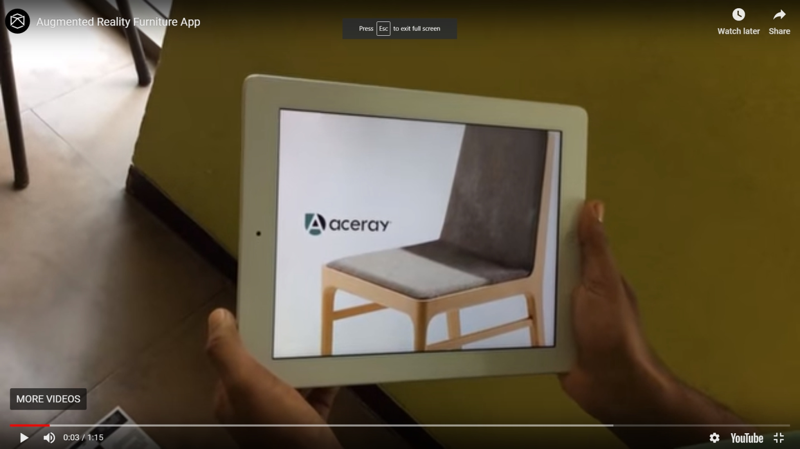 Furniture Augmented Reality - Reality Premedia